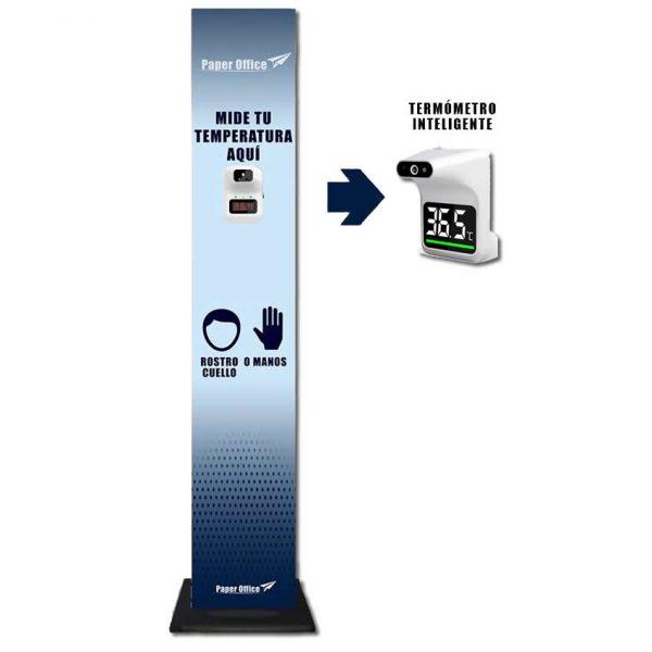 termometro infrarrojo + totem fomex